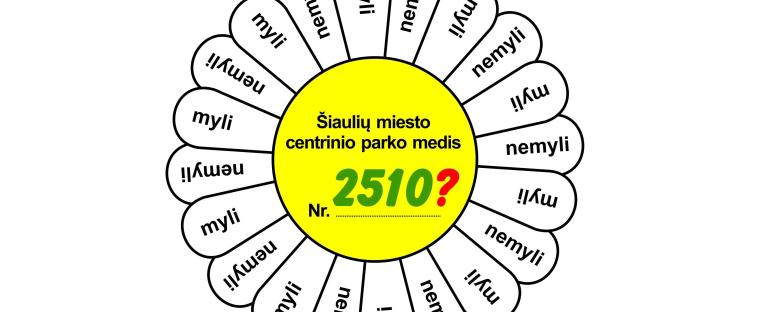 PILIETINĖ AKCIJA  Šiaulių miesto centrinio parko medžių žymėjimas, 2018.05.21