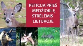Pasirašykite peticiją prieš lankų ir prožektorių naudojimą medžioklėje!