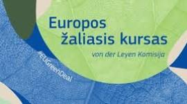 Kviečiame į virtualų EK nario V. Sinkevičiaus piliečių dialogą apie Europos žaliąjį kursą. 2020.12.04